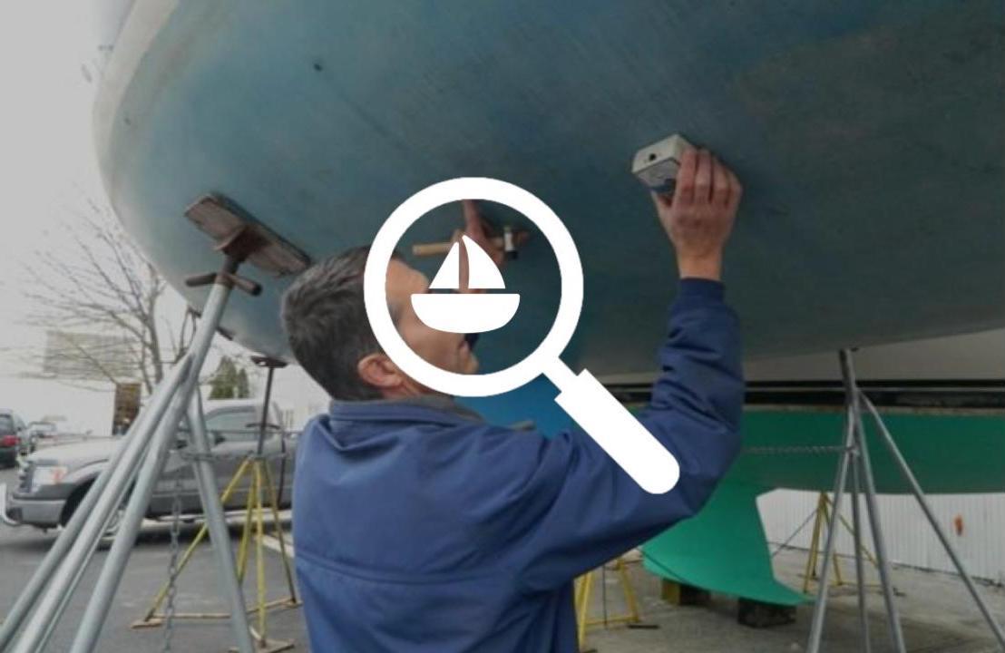 Inspection d'un bateau par un expert maritime