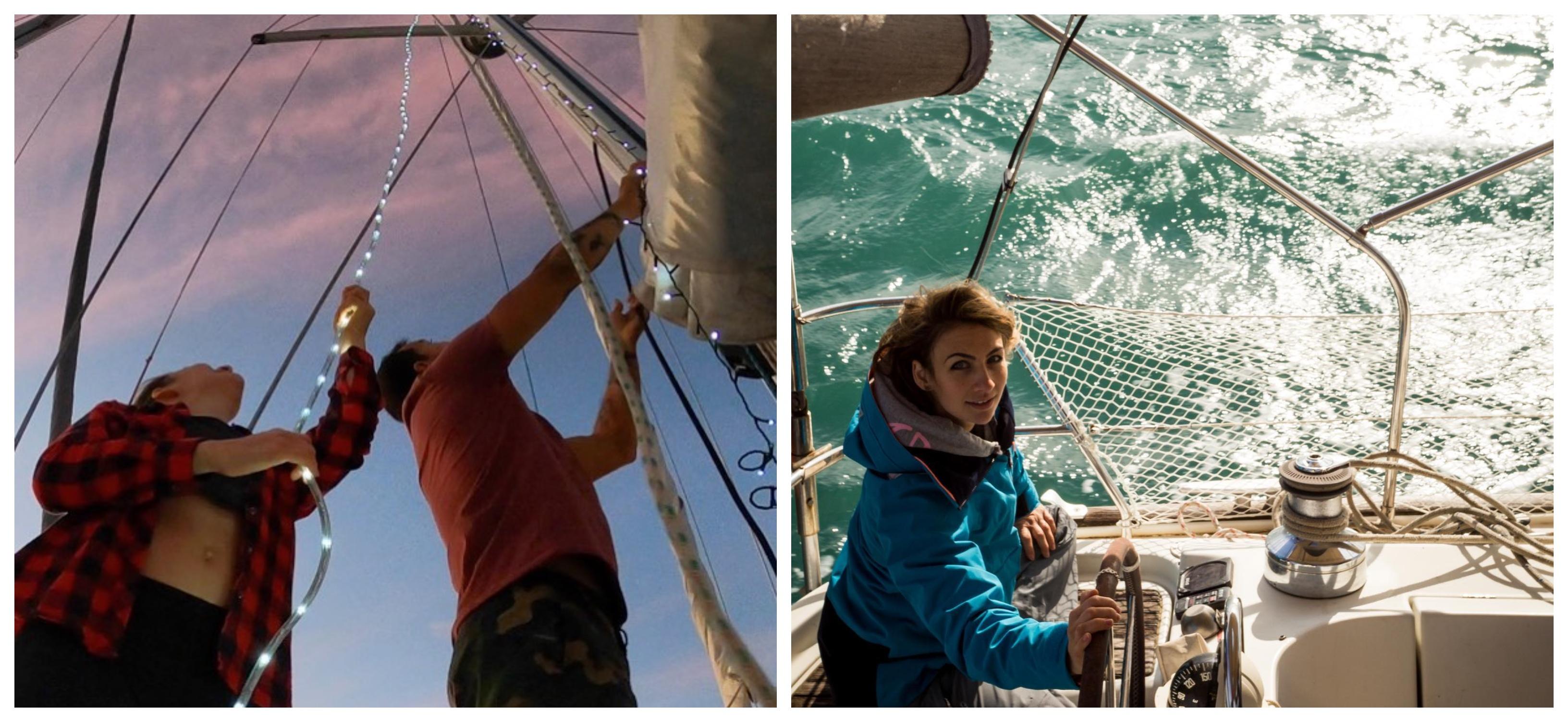 Marvin et Daniela en décembre, pendant les fêtes de noël, Photo: Sailing Nomad Citizen