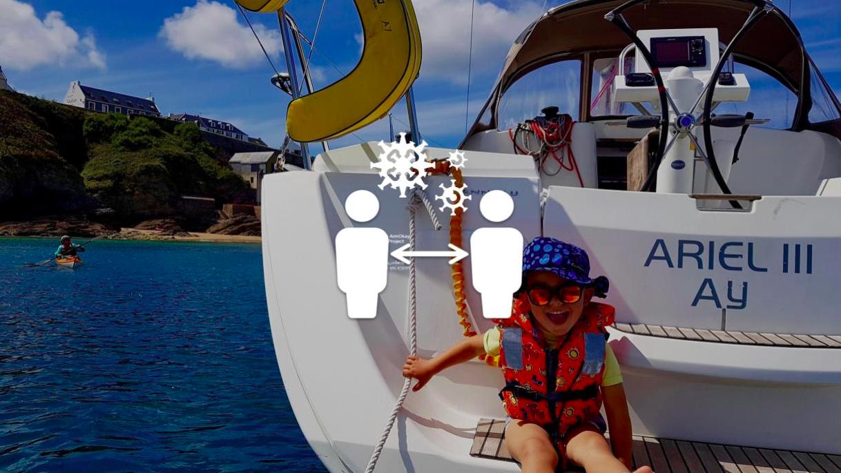 Conseils pour les mesures distanciation sociale sur un bateau